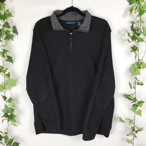 Perry Ellis knit black sweater